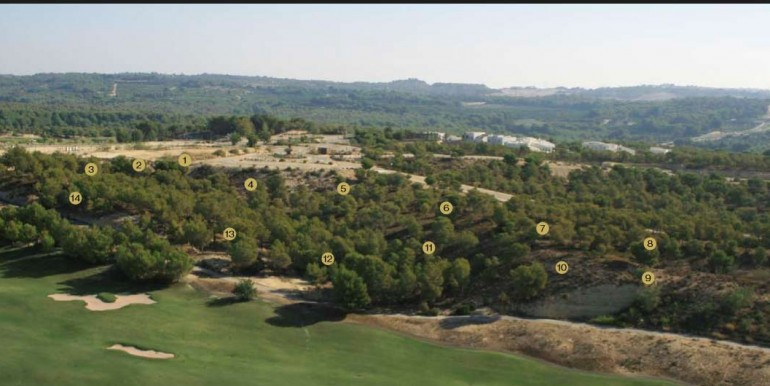 Plots for sale in Las Colinas Golf Olivo Community airial view