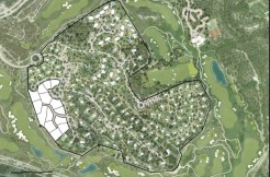 Plots for sale in Las Colinas Golf Olivo Community bird view