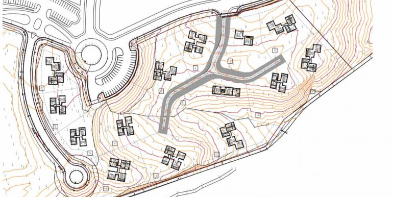 Plots for sale in Las Colinas Golf Olivo Community map