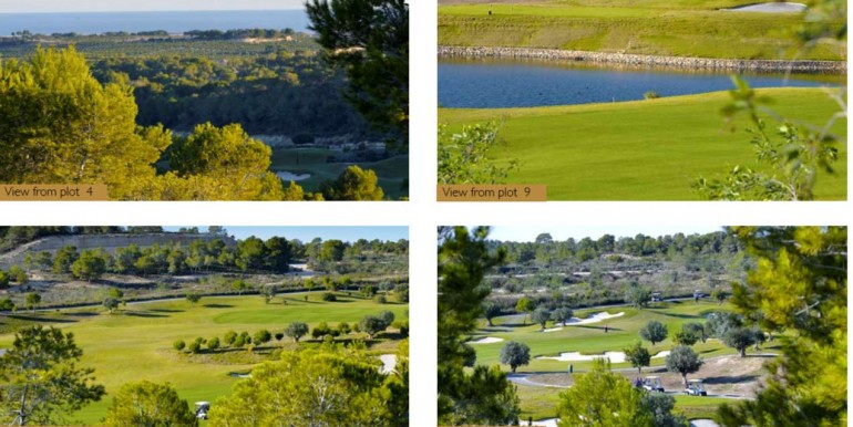 Plots for sale in Las Colinas Golf Olivo Community view