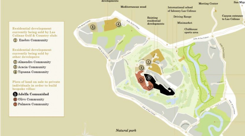 Plots for sale Adelfa community Las Colinas Golf Resort