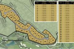 Plots for sale Adelfa community Las Colinas Golf Resort maps